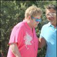 Elton John au Club 55 à Saint-Tropez, le 6 août 2009