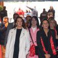 """Exclusif - Pauline Ducruet, la princesse Stéphanie de Monaco et Laura Tenoudji Estrosi - Ouverture de la 9ème édition de la """"New Generation"""" à Monaco le 1 février 2020. © Olivier Huitel/PRM/Bestimage"""