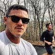Luke Evans et Rafael Olarra sur Instagram, janvier 2020.
