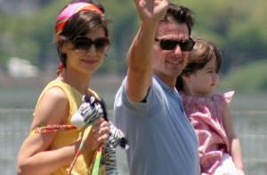 Tendres retrouvailles pour Tom Cruise, Katie Holmes et leur petite Suri...
