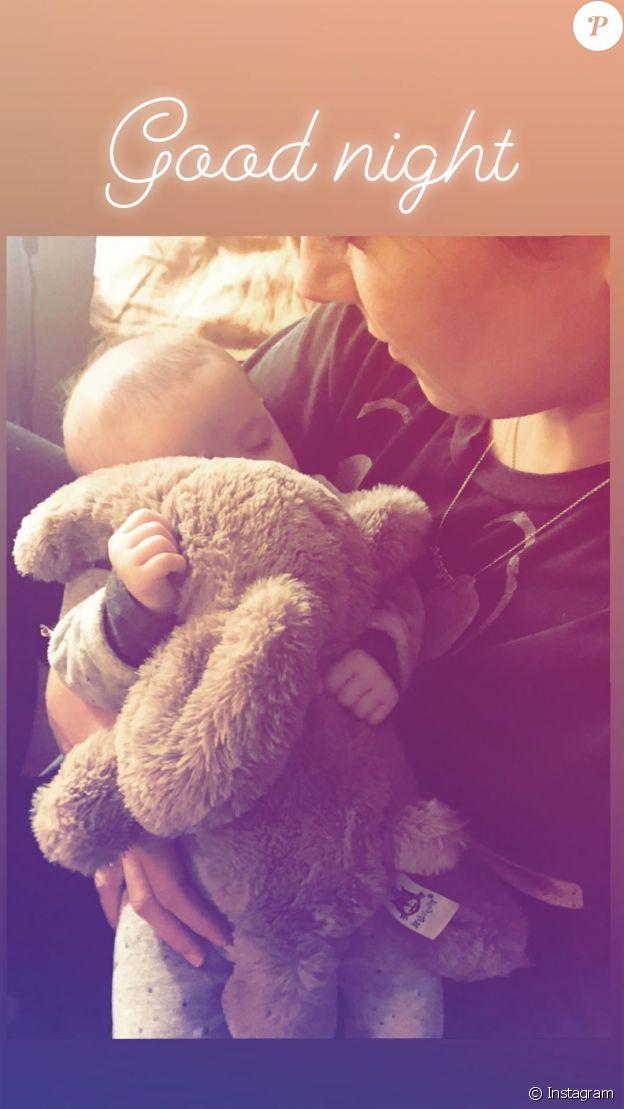 Alizée partage une nouvelle photo de sa fille Maggy le 11 février 2020.