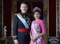 Letizia et Felipe d'Espagne : Tiare XL et robe rose, nouveau portrait officiel