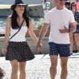 Exclusif - Jeff Bezos et sa compagne Lauren Sanchez en vacances à Portofino en Italie, le 10 août 2019.