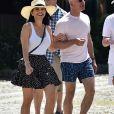 Jeff Bezos et sa compagne Lauren Sanchez en vacances à Portofino en Italie, le 10 août 2019.