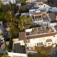 Vues aériennes de la maison de Lauren Sanchez (la nouvelle compagne de Jeff Bezos) et Patrick Whitesell à Los Angeles, le 11 janvier 2019.