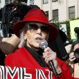 """Jane Fonda - Les stars s'investissent dans la manifestation en faveur du climat """"Fire Drill Fridays"""" à Los Angeles le 7 février 2020. © Future-Image via ZUMA Press / Bestimage"""