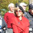 Jane Fonda est de nouveau arrêtée lors d'une manifestation pour le climat devant le Capitole à Washington le 18 octobre 2019.