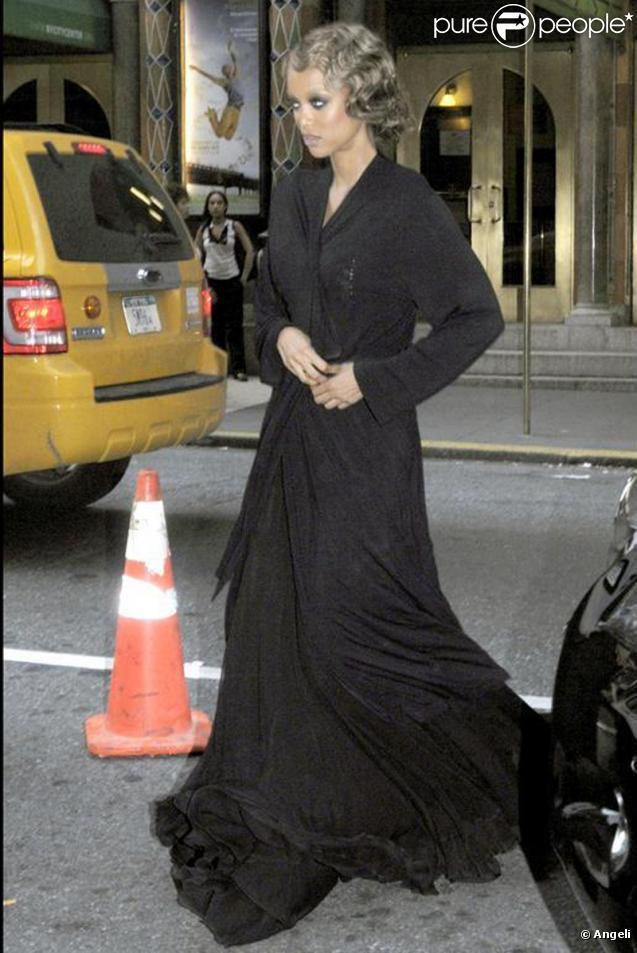 Tyra Banks sur le tournage de Gossip Girl