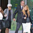 Les parents d'Amanda Bynes, Rick Bynes et Lynn quittent le palais de justice à Oxnard, Los Angeles, le 31 Octobre 2014.