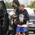 Exclusif - Blanket Jackson est allé faire du shopping avec un ami chez Best Buy dans le quartier de Canoga Park à Los Angeles, le 26 juillet 2019