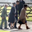 La reine Elizabeth II suivie de la princesse Anne et Sir Jackie Stewart à Sandringham le 27 janvier 2020 © Imago / Panoramic / Bestimage