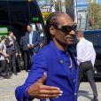 Snoop Dogg - Les célébrités arrivent pour un dernier hommage à Kobe Bryant et sa fille Gianna au Staples center de Los Angeles, le 24 février 2020