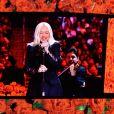 Christina Aguilera chante au Staples Centers de Los Angeles lors de l'hommage à Kobe Bryant et sa fille Gianna, le 24 février 2020.
