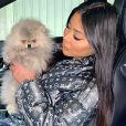 Maeva (Les Marseillais) avec son petit chien Hermès - Instagram, 2 février 2020