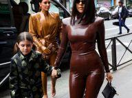 Kim Kardashian, Kourtney, North West : En latex et cuir pour une messe à Paris !