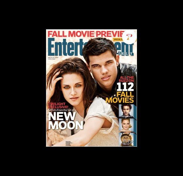 Taylor Lautner et Kristen Stewart les héros de Twilight en couverture de l'édition du 14 août d'Entertainment Weekly