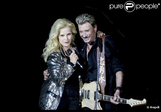Johnny et Sylvie en duo au Stade de France le 31 Mai 2009