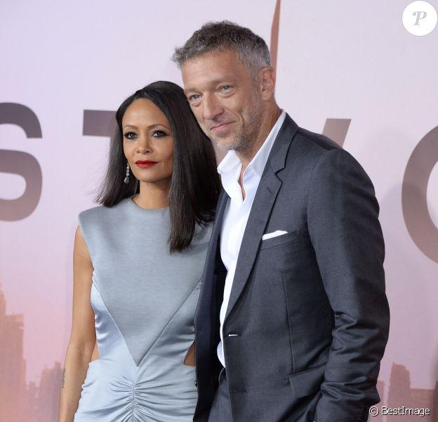 """Thandie Newton et Vincent Cassel assistent à la projection de la saison 3 de la série """"Westworld"""" au TCL Chinese Theatre. Los Angeles, le 5 mars 2020."""