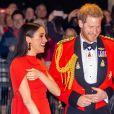 Le prince Harry, duc de Sussex, et Meghan Markle, duchesse de Sussex, assistent au festival de musique de Mountbatten au Royal Albert Hall de Londres, Royaume Uni, le 7 mars 2020. @Splash/ABACAPRESS.COM