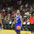 Chris Brown participe au Ace Family Basketball Charity au Staple Center à Los Angeles, le 29 juin 2019.