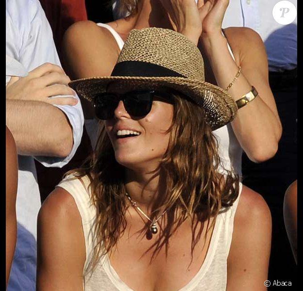 Laure Manaudou supporte son chéri Frédérick Bousquet aux Championnats du monde de natation à Rome, le 26 juillet 2009