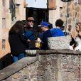 Exclusif - Romain Duris et Virginie Efira sur le tournage du film En attendant Bojangles au Château de la Napoule à Mandelieu-la-Napoule le 26 février 2020