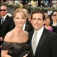 Steve Carell et son épouse - Cérémonie des Oscars. Los Angeles. Le 5 mars 2006.