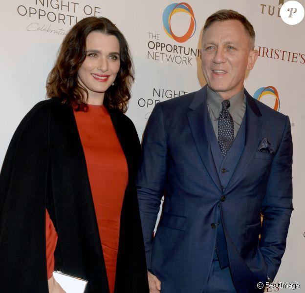 Daniel Craig et sa femme Rachel Weisz à la 11ème soirée annuelle Opportunity Network à New York le 9 avril 2018.