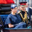 Le prince Harry et Meghan Markle, duchesse de Sussex, lors de la parade Trooping the Colour au palais de Buckingham à Londres le 8 juin 2019.