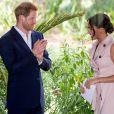 Le prince Harry et Meghan Markle, duchesse de Sussex, à Johannesburg, le 2 octobre 2019.