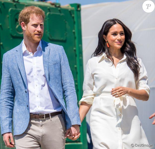 Le prince Harry et Meghan Markle, duchesse de Sussex, à Johannesburg en Afrique du Sud le 2 octobre 2019.