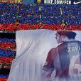 Xavi Hernandez, honoré par les supporters du FC Barcelone après le sacre de champion d'Espagne. Barcelone, le 23 mai 2015.