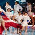 Emme, la fille de Jennifer Lopez sur scène pour le show lors de la mi-temps du 54 ème Super Bowl au Hard Rock Stadium à Miami le 2 février 2020