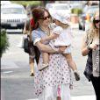 Helena Bonham Carter avec sa fille Nell, au centre commercial Cross Creek, à Malibu, le 21 août 2009 !