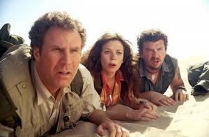 La superbe Anna Friel et le délirant Will Ferrell... attaqués par des dinosaures ! Regardez !
