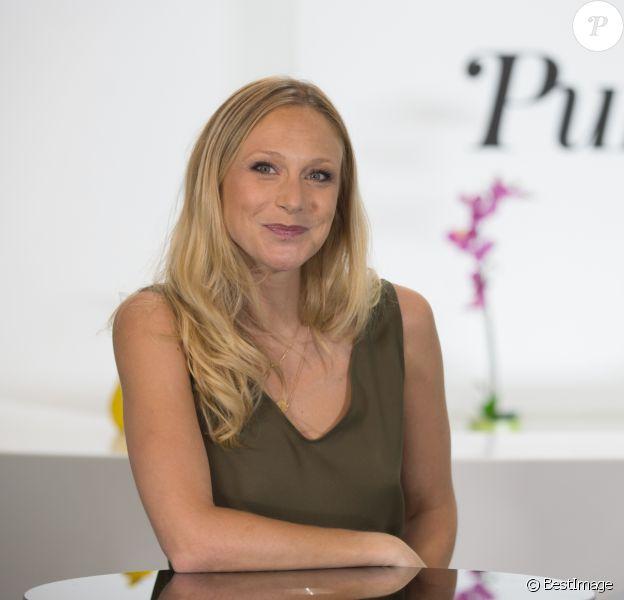 Exclusif - Rendez-vous avec Julie Taton pour Purepeople à Paris le 13 septembre 2016.