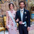La princesse Sofia et le prince Carl Philip de Suède au traditionnel dîner de la cérémonie des Prix Nobel à Stockholm le 11 décembre 2019.