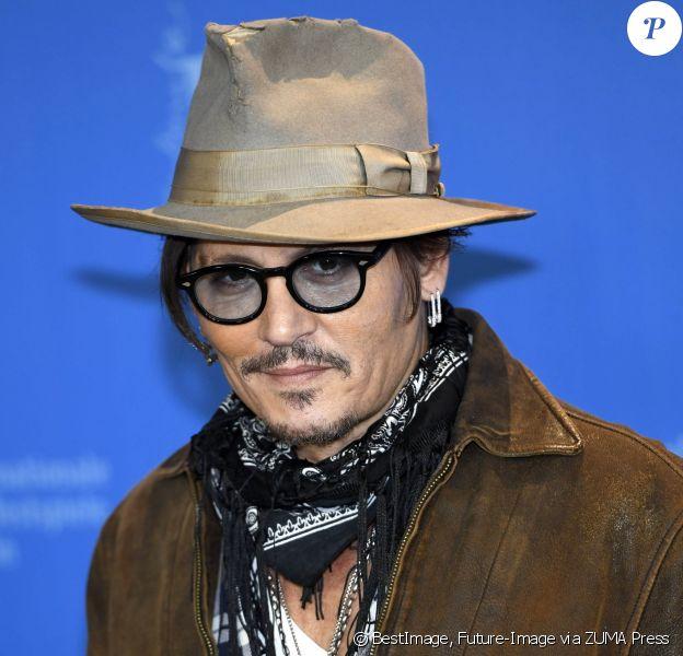 Johnny Depp - Le photocall du film 'Minamata' au 70ème Festival International du Film de Berlin / Berlinale 2020 à l'hôtel Grand Hyatt le 21 février 2020 à Berlin, Allemagne. © Future-Image via ZUMA Press / Bestimage