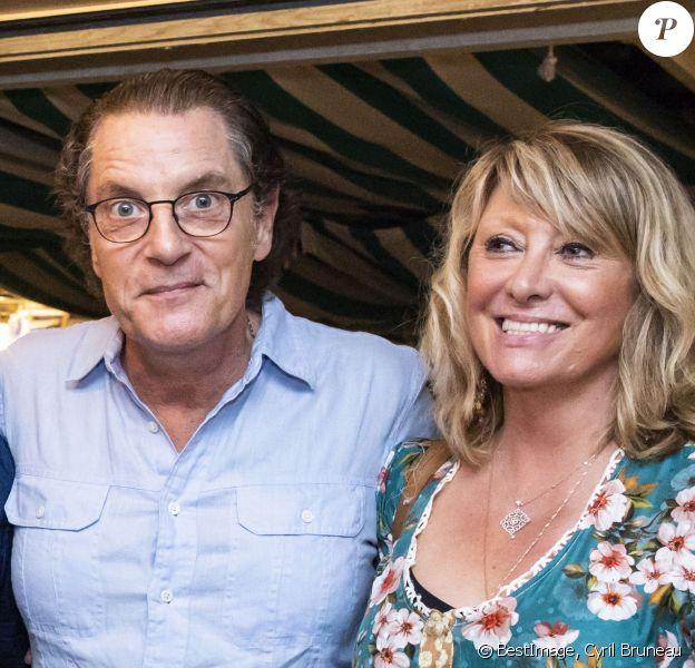 Exclusif - Francis Cabrel et sa femme Mariette - Francis Cabrel en concert lors du festival de Ramatuelle le 2 aout 2018. C'est la première fois qu'il vient chanter au festival de Ramatuelle. © Cyril Bruneau/Bestimage
