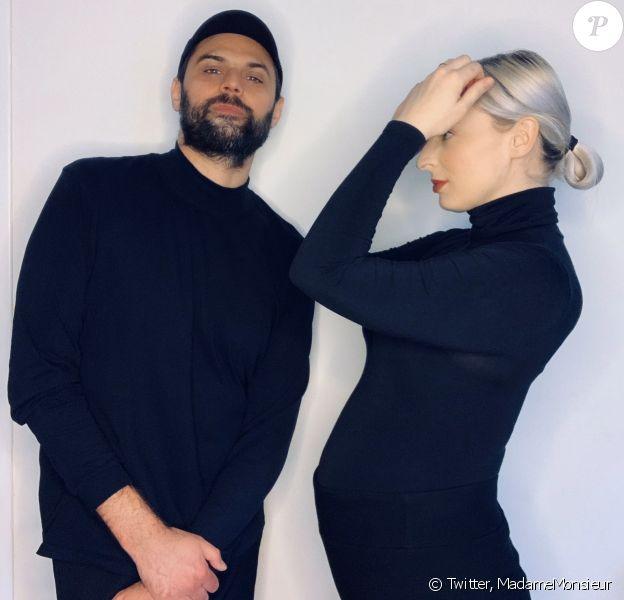 Le duo Madame Monsieur annonce la grossesse d'Emilie Satt, sur Twitter, le 22 avril 2020
