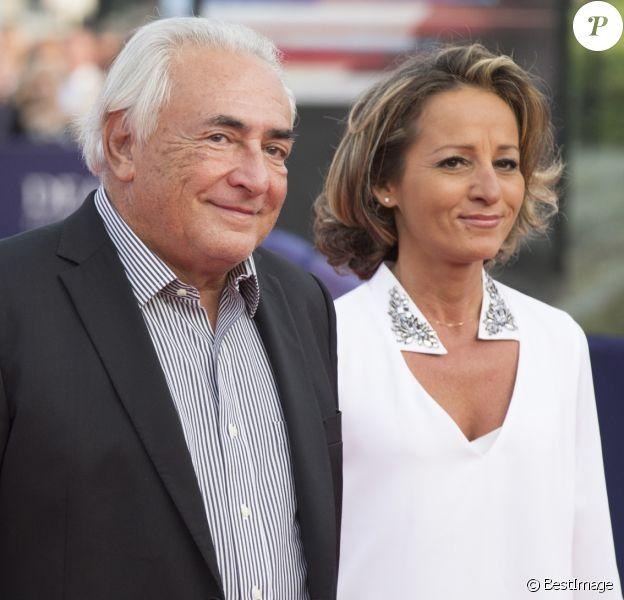 """Dominique Strauss-Kahn et Myriam L'Aouffir - Avant-première du film """"Sin City"""" lors du 40ème festival du cinéma américain de Deauville, le 13 septembre 2014."""