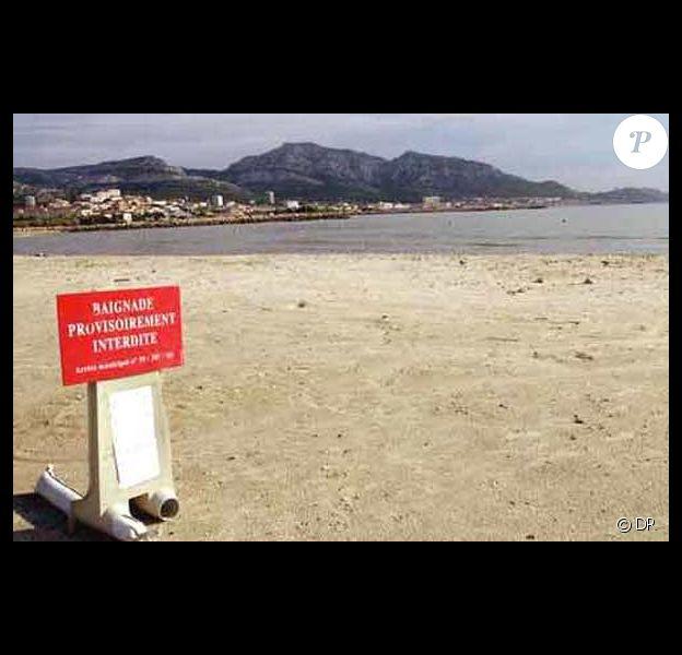 Une plage fermée à cause de la pollution...