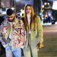 Gigi Hadid et Zayn Malik sont allés dîner au restaurant IL Buco avec B. Hadid et D. Lipa pour l'anniversaire de Yolanda Hadid (la mère de Bella et Gigi) à New York, le 11 janvier 2020.
