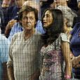 Paul McCartney et Nancy Shevell à un match de baseball, le 26/08/09