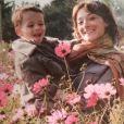 Delphine Serina et son fils Giacomo sur Instagram. Souvenir partagé le 23 décembre 2018.
