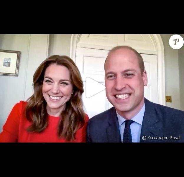 La duchesse Catherine de Cambridge et le prince William en appel visio le 8 mai 2020 pour commémorer les 75 ans de la Libération.