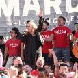 """Melissa Etheridge - Les célébrités lors des manifestations géantes aux États-Unis pour la 2e """"Marche des femmes"""" anti-Trump à Los Angeles le 20 janvier 2018."""