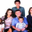 Une belle photo de famille : Rania, Abdullah et leurs enfants Hussein 15 ans, Iman 12 ans, Salma 8 ans et Hashem 4 ans