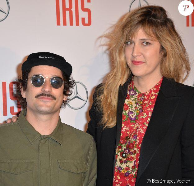 """Daphné Bürki et son fiancé Gunther Love (Sylvain Quimène) - Avant-première du film """"Iris"""" au cinéma Gaumont Champs-Elysées à Paris, le 14 novembre 2016. © Veeren/Bestimage"""