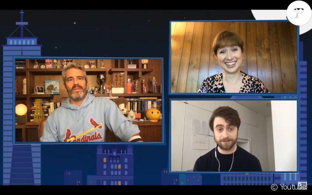 Daniel Radcliffe en interview sur la chaîne américaine Bravo, le 18 mai 2020.